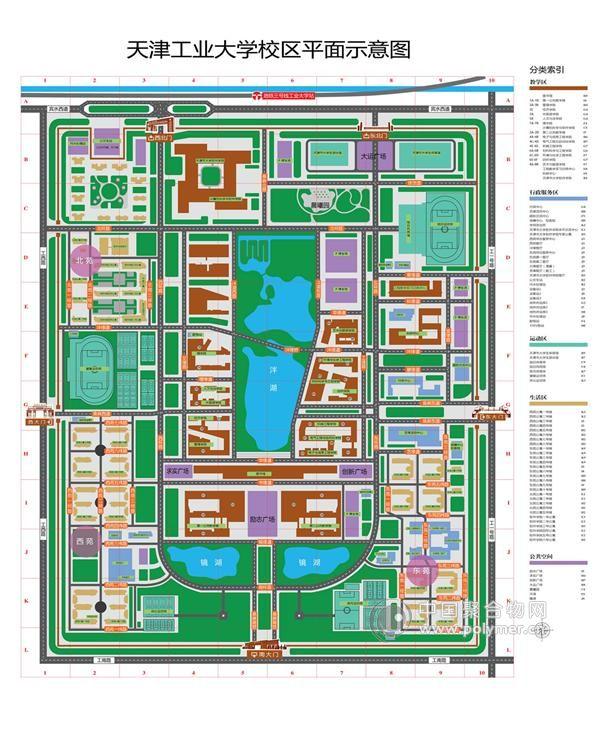 天津工业大学新校区地图