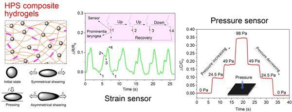 课题组中空微球复合凝胶柔性传感器